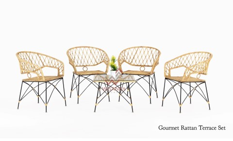 Gourmet Rattan Terrace Set