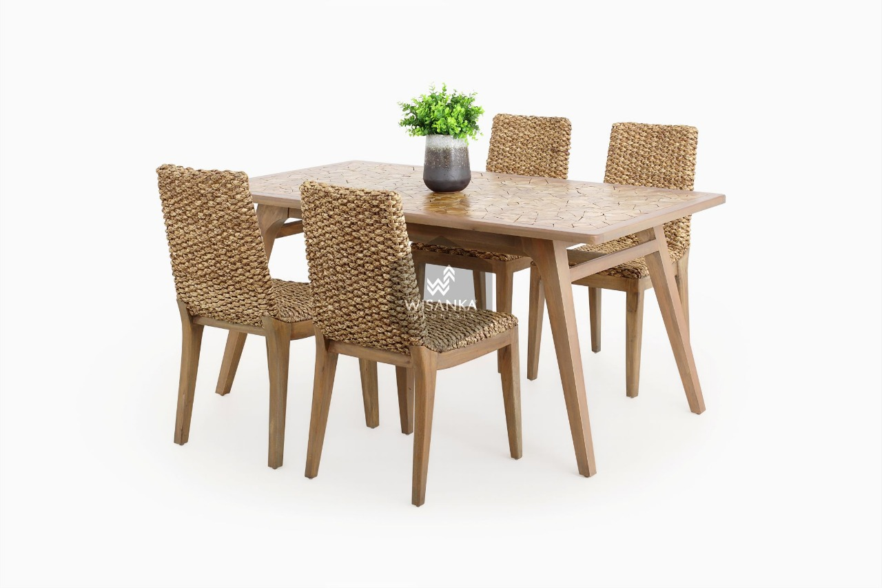 Bione Natural Fiber Dining Set