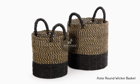 Astor Round Wicker Basket