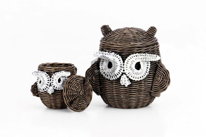 Abstract Owl Rattan Figure