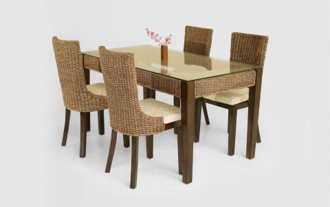 Alona Wicker Dining Set