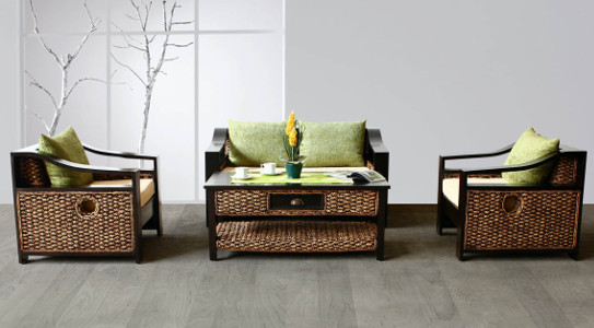 Carissa Wicker Living Set
