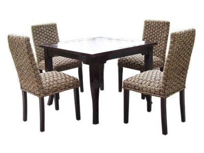 Monica Seagrass Woven Dining Set