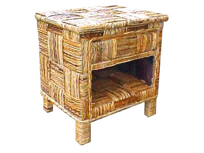 Reno Rattan Bedside Table