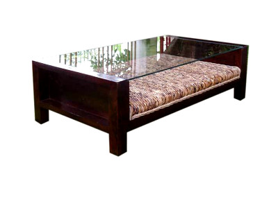 Sofa Rattan Table