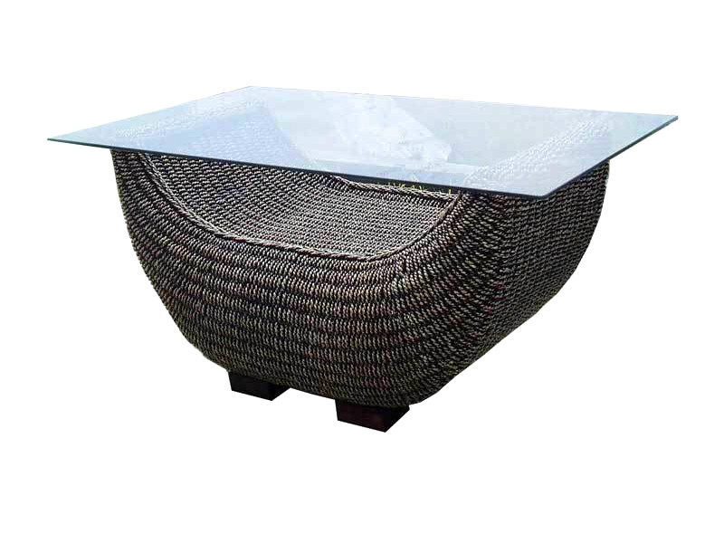 Boat Wicker Coffee Table