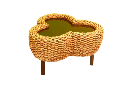 Flower Wicker Table