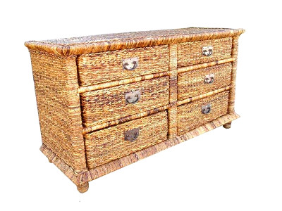 Aleta Water Hyacinth Drawer