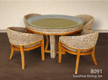 Sunshine Wicker Woven Dining Set