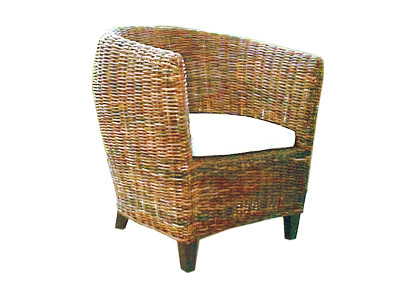 Gary Croco Rattan Arm Chair