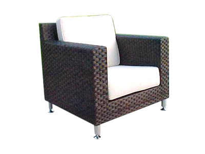 Point Dark Brown Wicker Chair