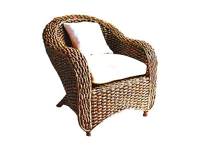 Sylvia Wicker Arm Chair
