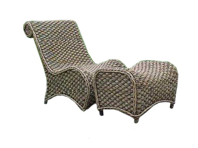 Bali Wicker Lazy Chair & Stool