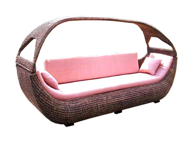 Boat Wicker Sofa 3 Seaters