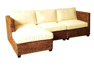 Rafless Wicker Corner Set