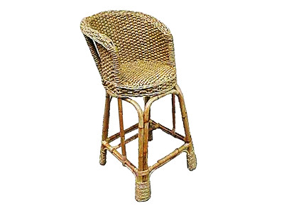 Sidney Wicker Barstool