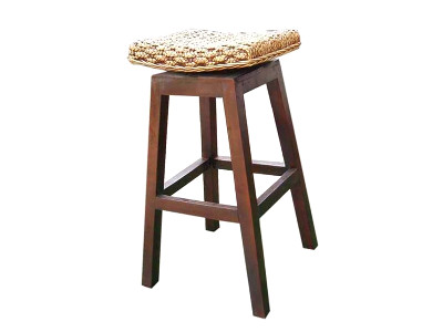 Julie Swievel Wicker Barstool