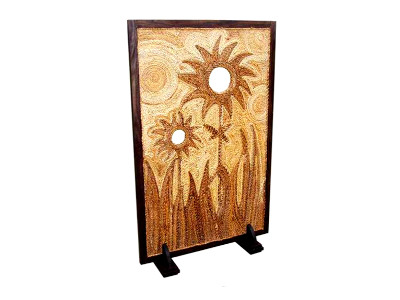 Sun Flower Wicker Divider