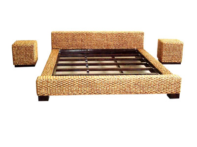 Matahari Wicker Bed Set