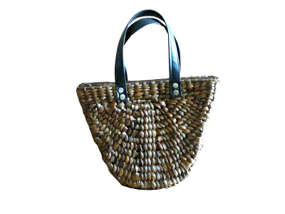 V Wicker Bag