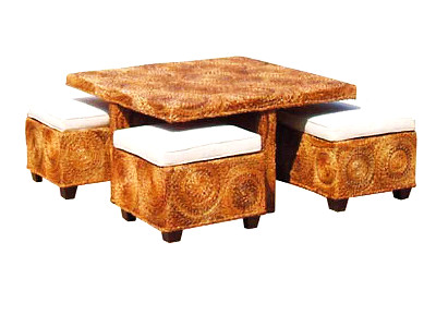 Boston Coffee Table & Stools