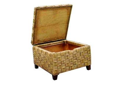 Luna Rattan Table Open Top