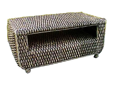 Sylvia Wicker Coffee Table