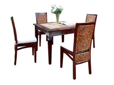 Pirlo Wicker Dining Set