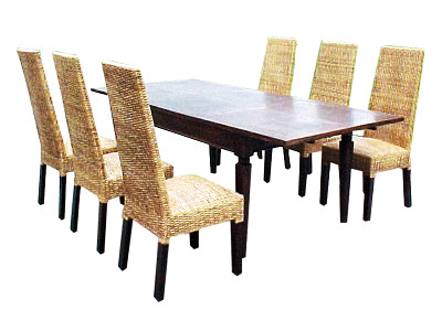 Gardena Wicker Dining Set
