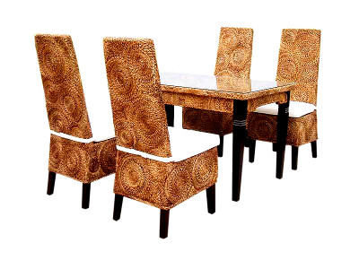 New Kayla Round Weave Dining Set