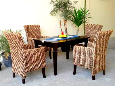Modena Wicker Dining Set
