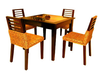 Mirage Wicker Dining Set