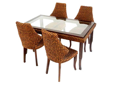 Charity Wicker Dining Set