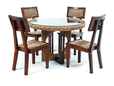 Iris Wicker Dining Set