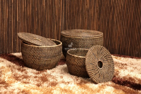 Bejo Rattan Basket Brown