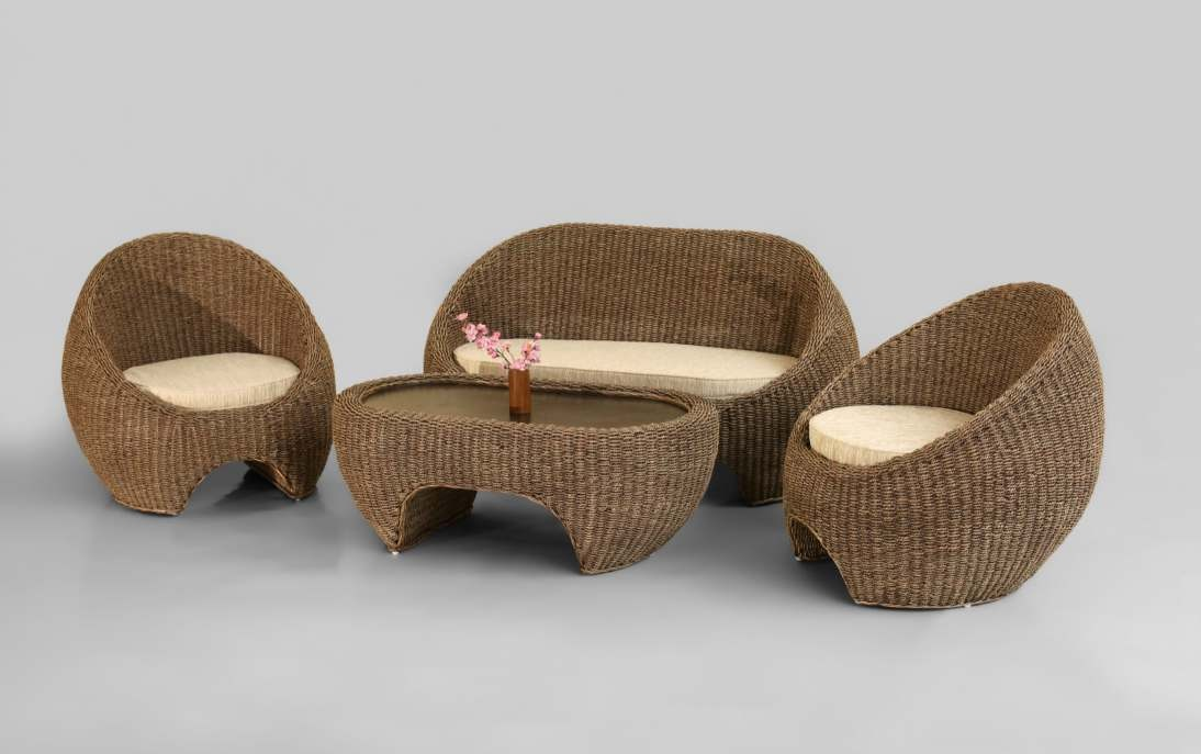 Chamfer Wicker Living Set
