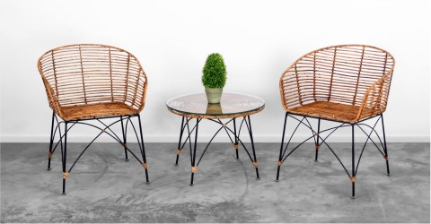 Chloe Rattan Terrace Set