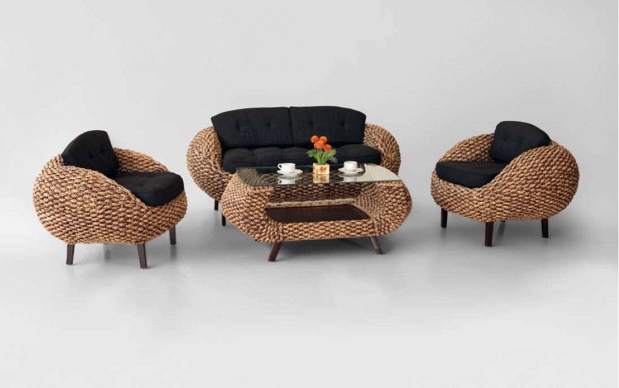 Crab Wicker Living Set