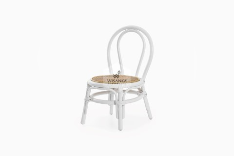 Kala Rattan Kids Chair White