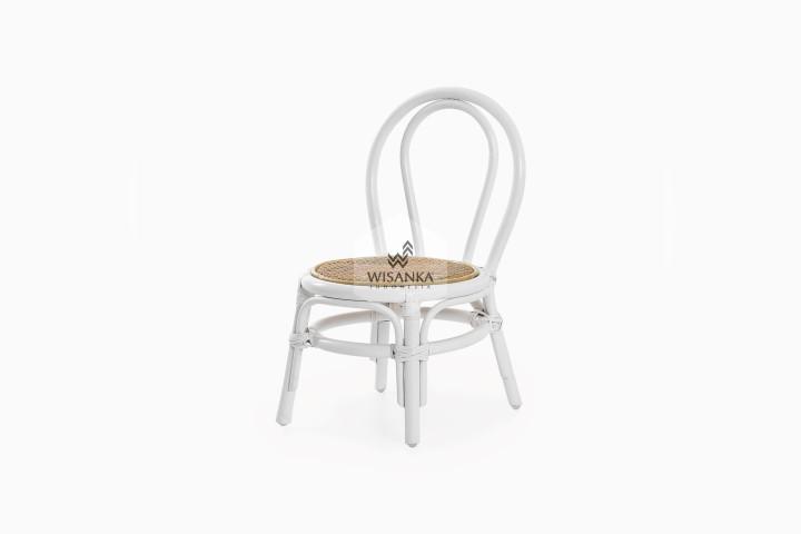 Kala Rattan Kids Chair White