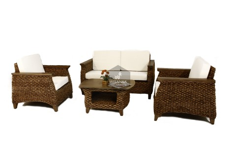 Neira Water Hyacinth Living Set