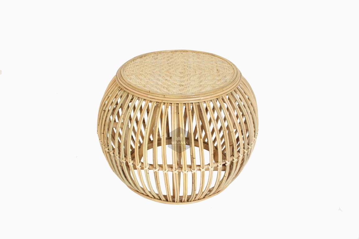 Theo Rattan Round Coffee Table